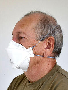 Kuva 5.  FFP2-luokan hengityksensuojain ilman uloshengitysventtiiliä.