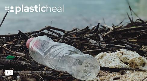 Empty plastic bottle lying on the ground