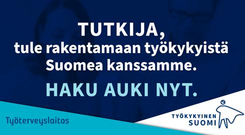 Työkykyinen Suomi tutkijarekrytointi