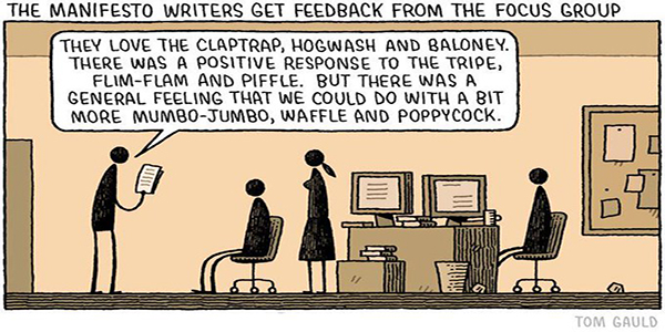 Manifesto focus group (Tom Gauld) reduced